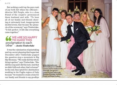 Justin Timberlake And Jessica Biel Pose With Their Bridesmaids At Their Italian Wedding Wedding Bridesmaid Italian Wedding