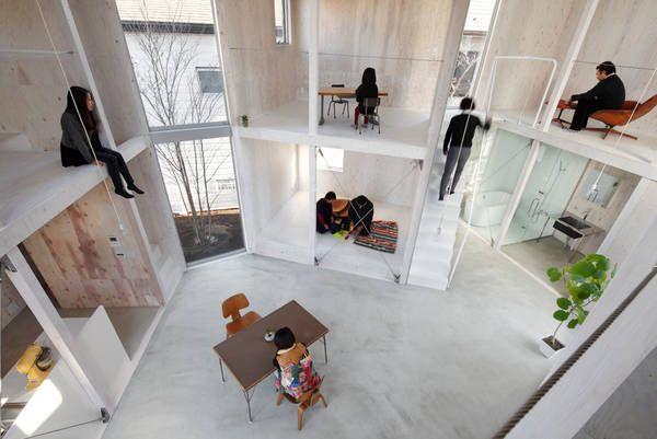 Wohncontainer von Kentaro Yamazaki, Innenraum