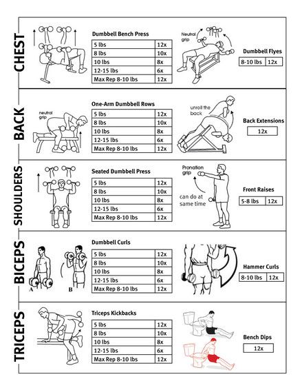 Upper Body Workout Plan For Men Routine At Gym
