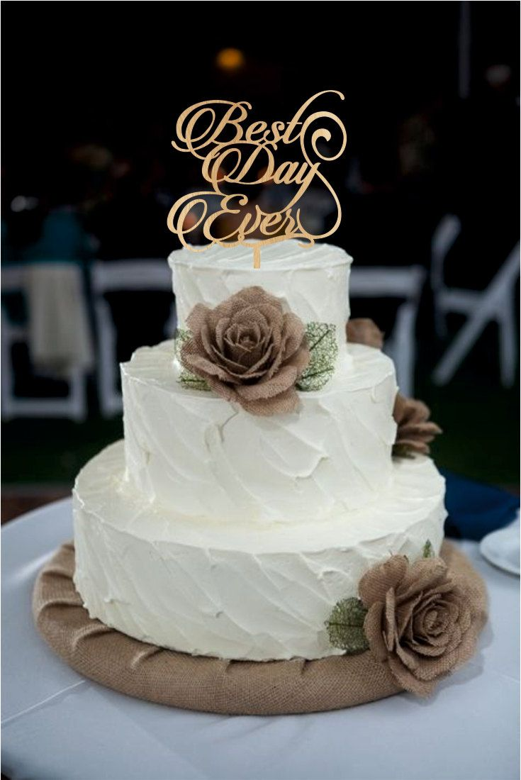 Best day ever wedding cake topper monogram wedding cake topper best day ever wedding cake topper monogram wedding cake topper rustic wedding decor rustic cake topper acrylic wedding cake topper by customorderhouse junglespirit Images