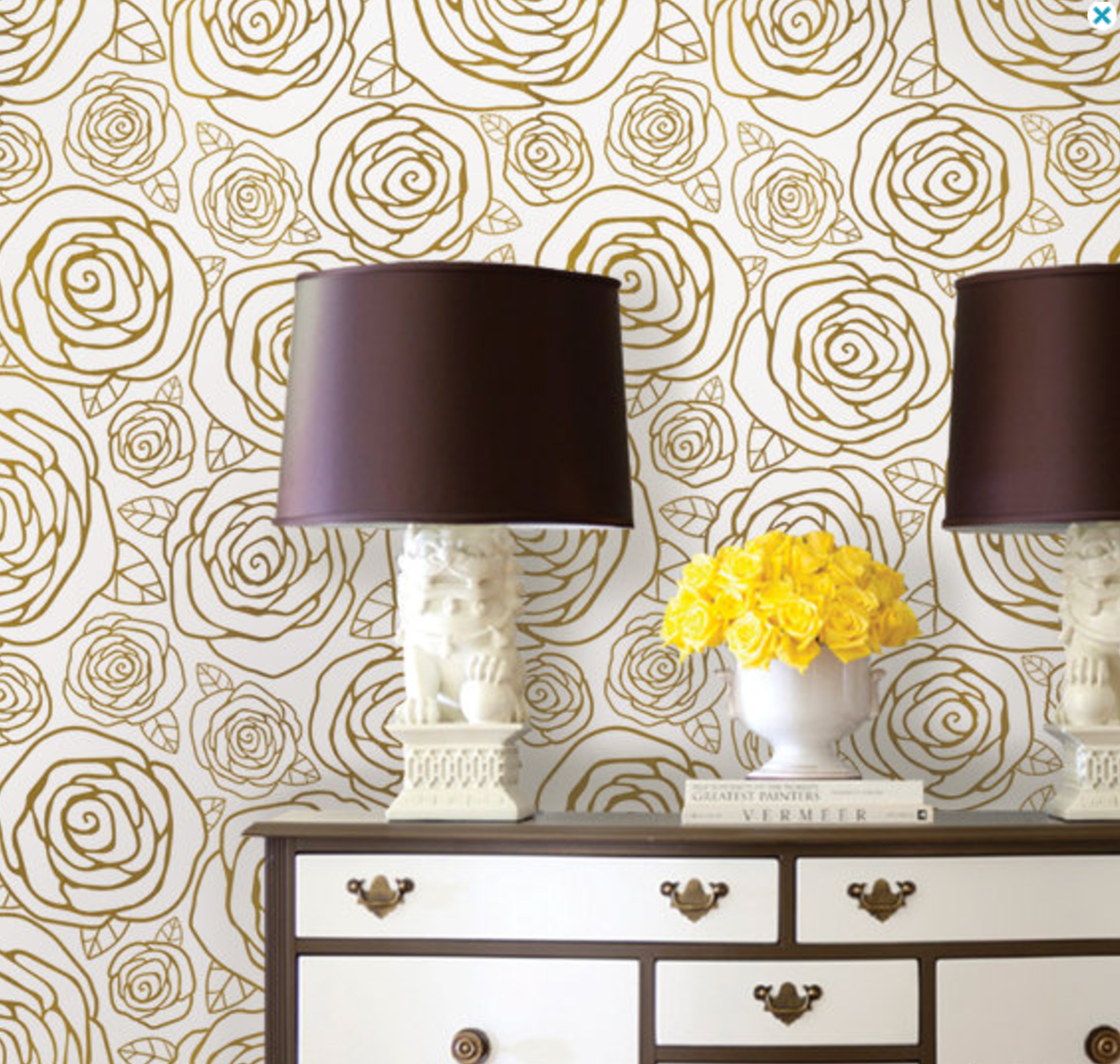 Gold Roses Removable Wallpaper Rose Gold Wallpaper Fabric Wallpaper Gold Wallpaper