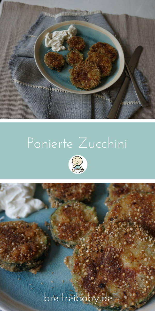 panierte zucchini mit knuspriger panade rezept hauptgericht breifrei blw und baby led. Black Bedroom Furniture Sets. Home Design Ideas