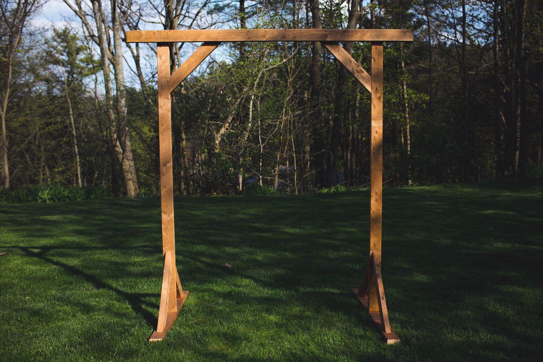 Diy wood wedding arbor the sorry girls wooden wedding