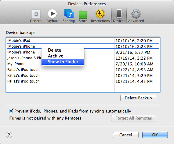 Find Change Or Delete Iphone Backup Location On Windows X2f Mac