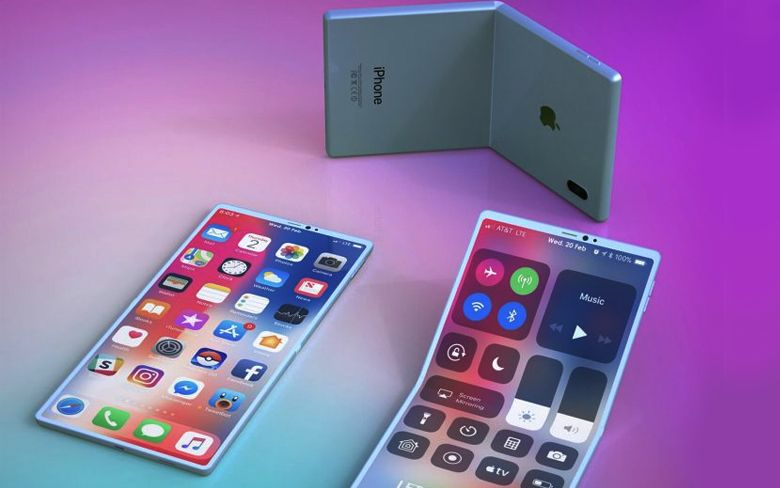 Renders of the 2020 clamshell foldable iPhone revealed