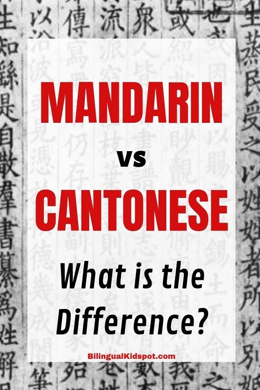 What is the Difference between Mandarin and Cantonese