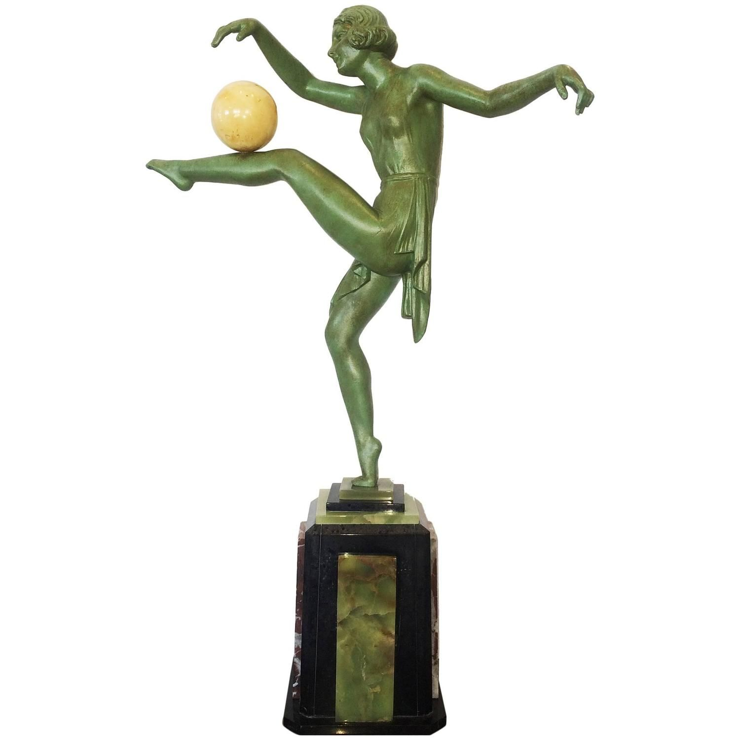 Art Deco Large Dancer Figurine by Limousin