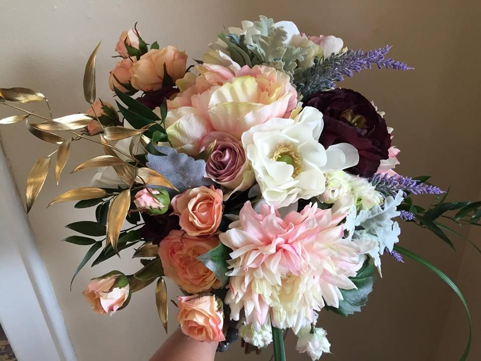 beautiful silk bouquet to last forever after your special day!