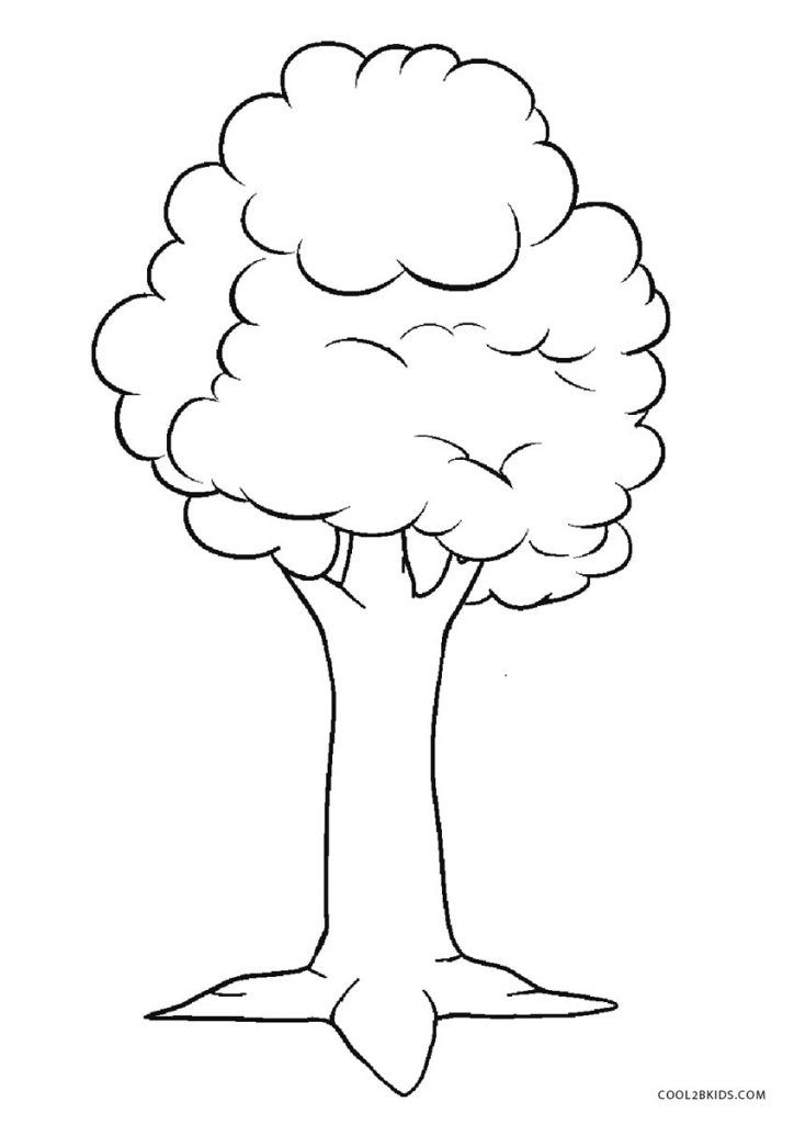 Tree Coloring Pages | Tree coloring page, Pumpkin coloring ...