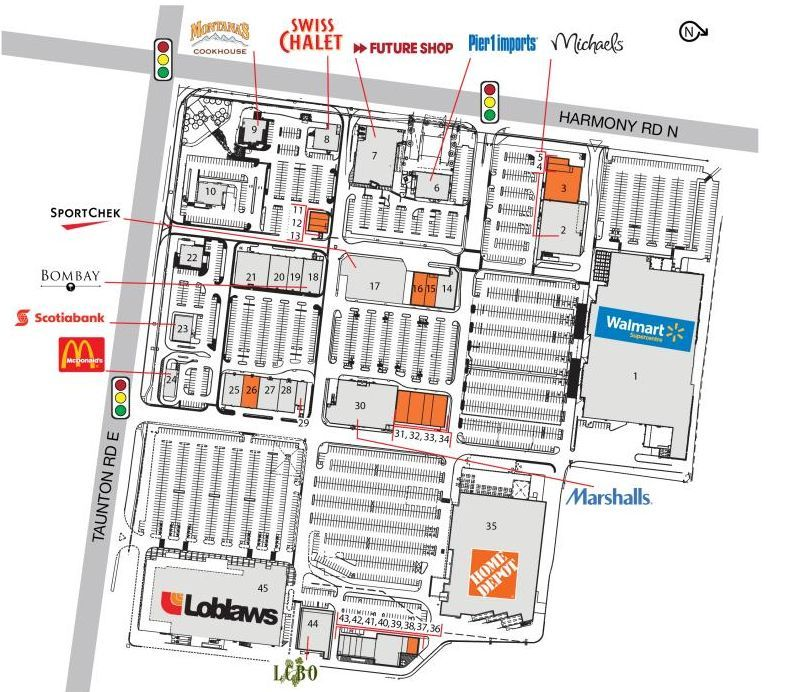 Oshawa North SmartCentre shopping plan Ontario city