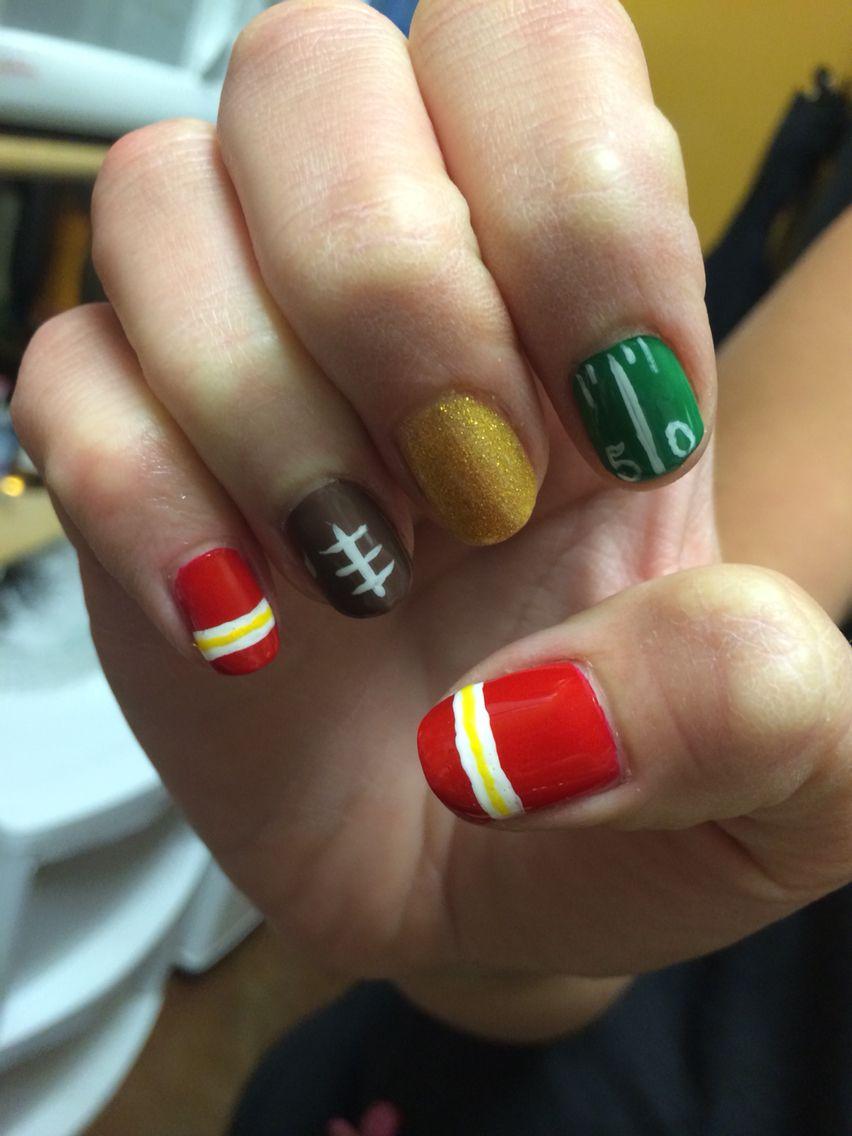 KC Chiefs Nails | Nails | Pinterest | Crazy nails and Nail nail