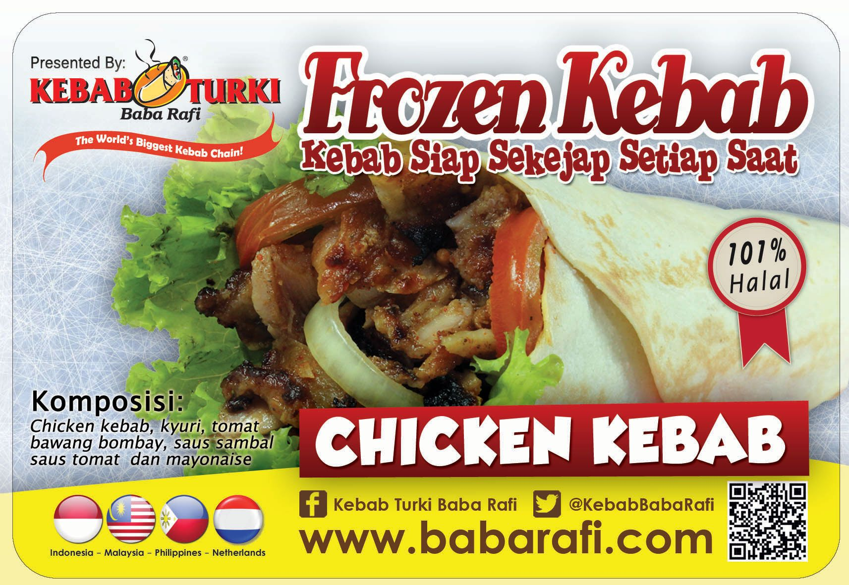 For Chicken Meat Lovers Try Out This Chicken Kebab As One Variant From Baba Rafi Frozen Kebab Series Yummy Www Babarafi Com Kebab Frozen Turki