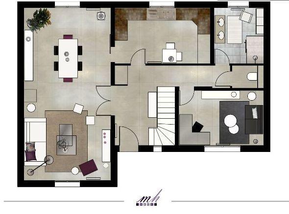 Mise en couleur Plan aménagement - Client Vizzion Architects