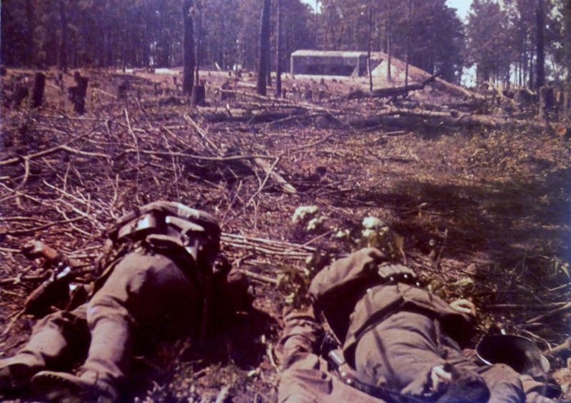 A Dead German Soldier trapped on Barbed wire at The