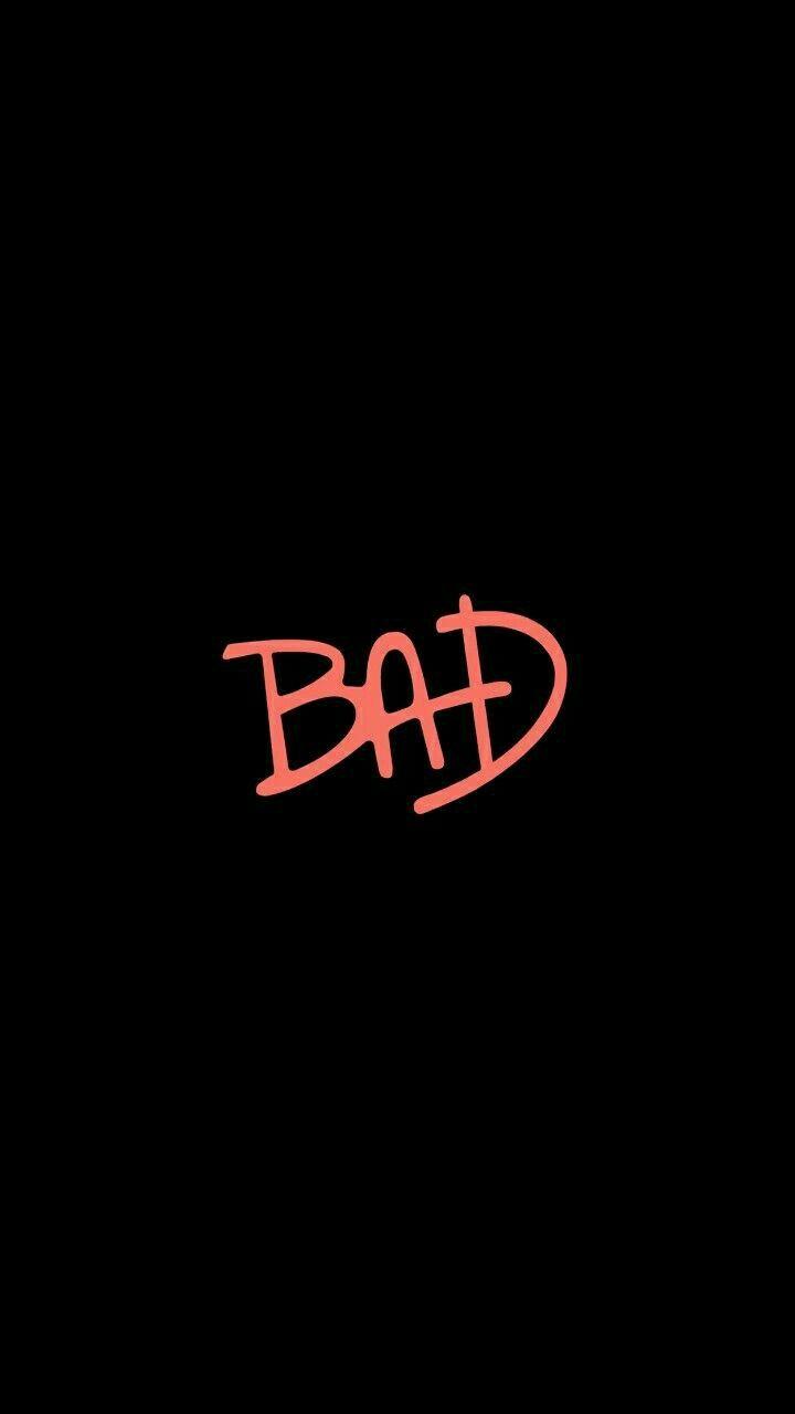 Bad Red Colour Font Over Black Background Bg Mobile Phone Wallpaper Background Lockscreen Nadpisi Oboi Dlya Iphone Majkl Dzhekson
