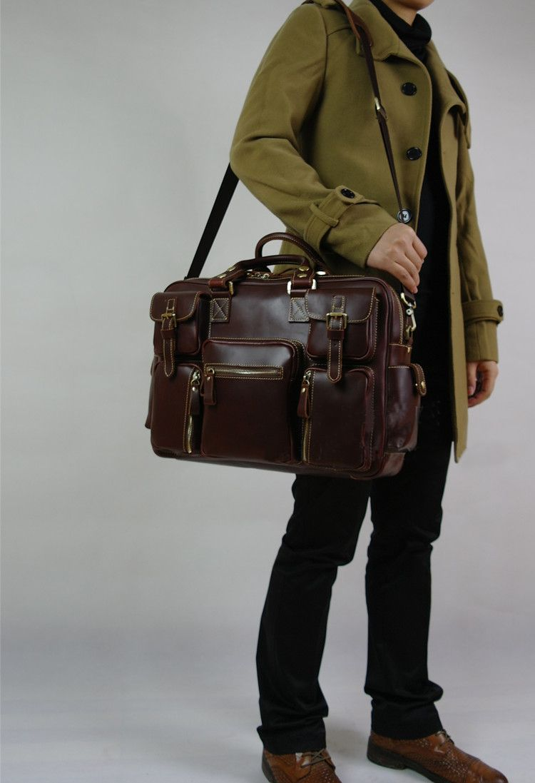 Handmade Leather Satchel Brown Leather Bag 6520050f5d8c1