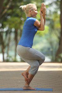 eagle pose  garudasana  yoga health benefits  sequence