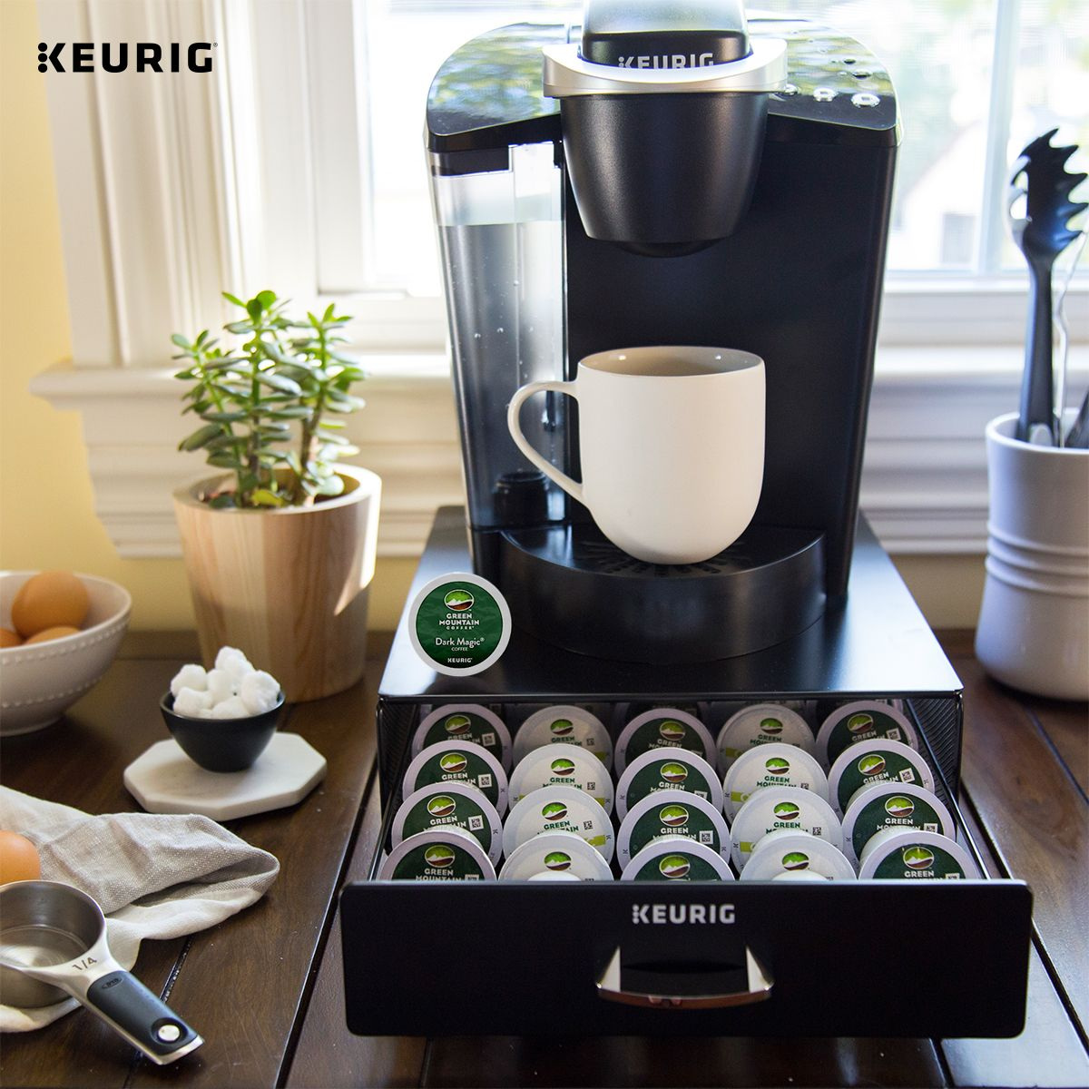 Accessorize your Keurig brewer with our KCup Pod Storage