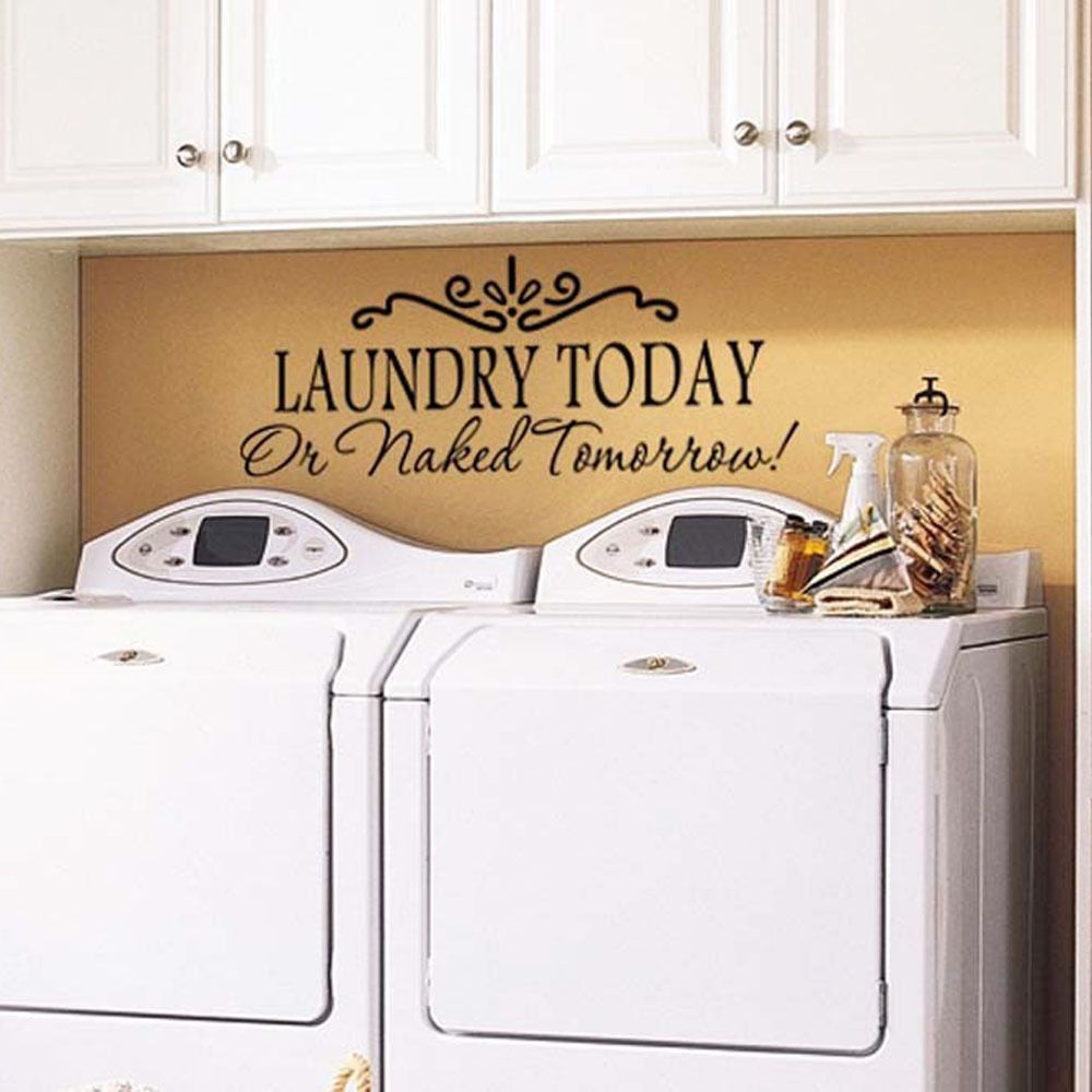 Laundry Room Vinyl Wall Art Laundry Today Quote Home Laundry Room Vinyl Wall Sticker Removable