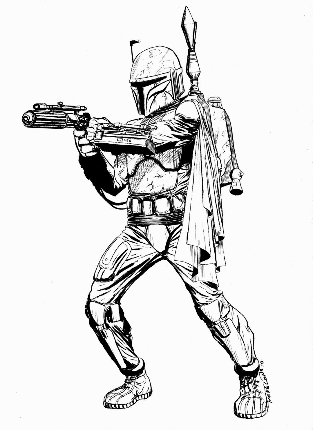 boba fett coloring page # 17