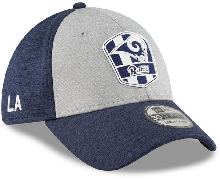 1cdf555be New Era Los Angeles Rams On Field Sideline Road 39THIRTY Stretch Fitted Cap
