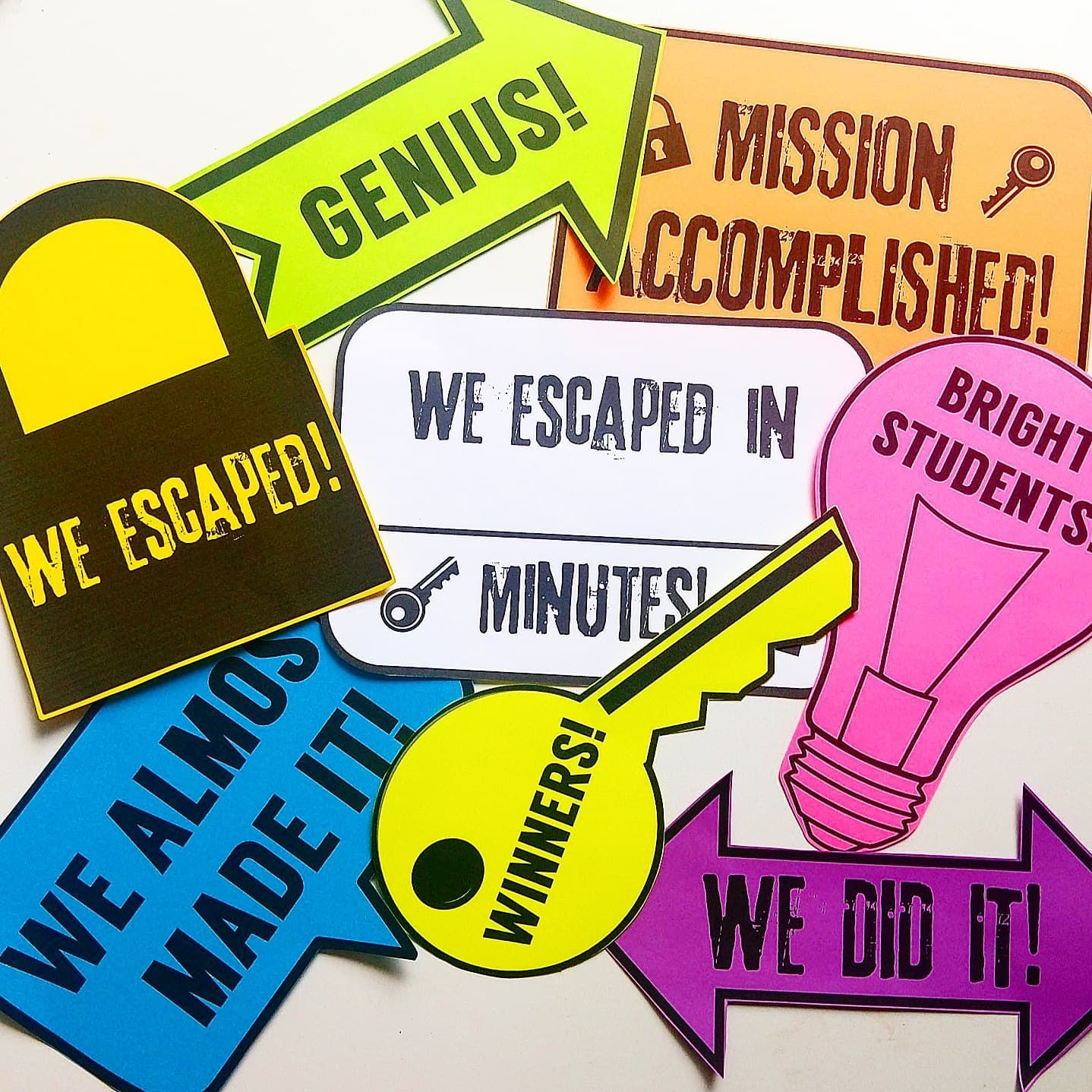 Escape Room Signs And Photo Props Escape Room Room Signs