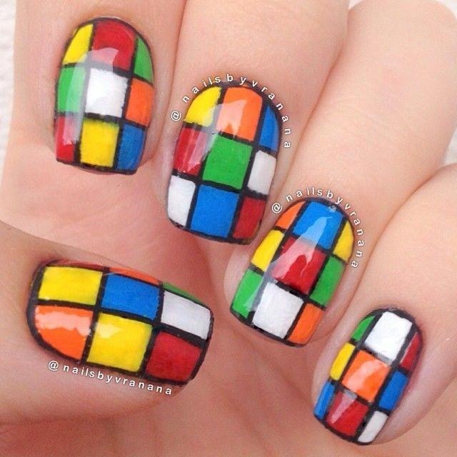 Piggieluv Freehand Stairway To Heaven Nail Art: Nailsbyvranana #nail #nails #nailart #geeknailart (With
