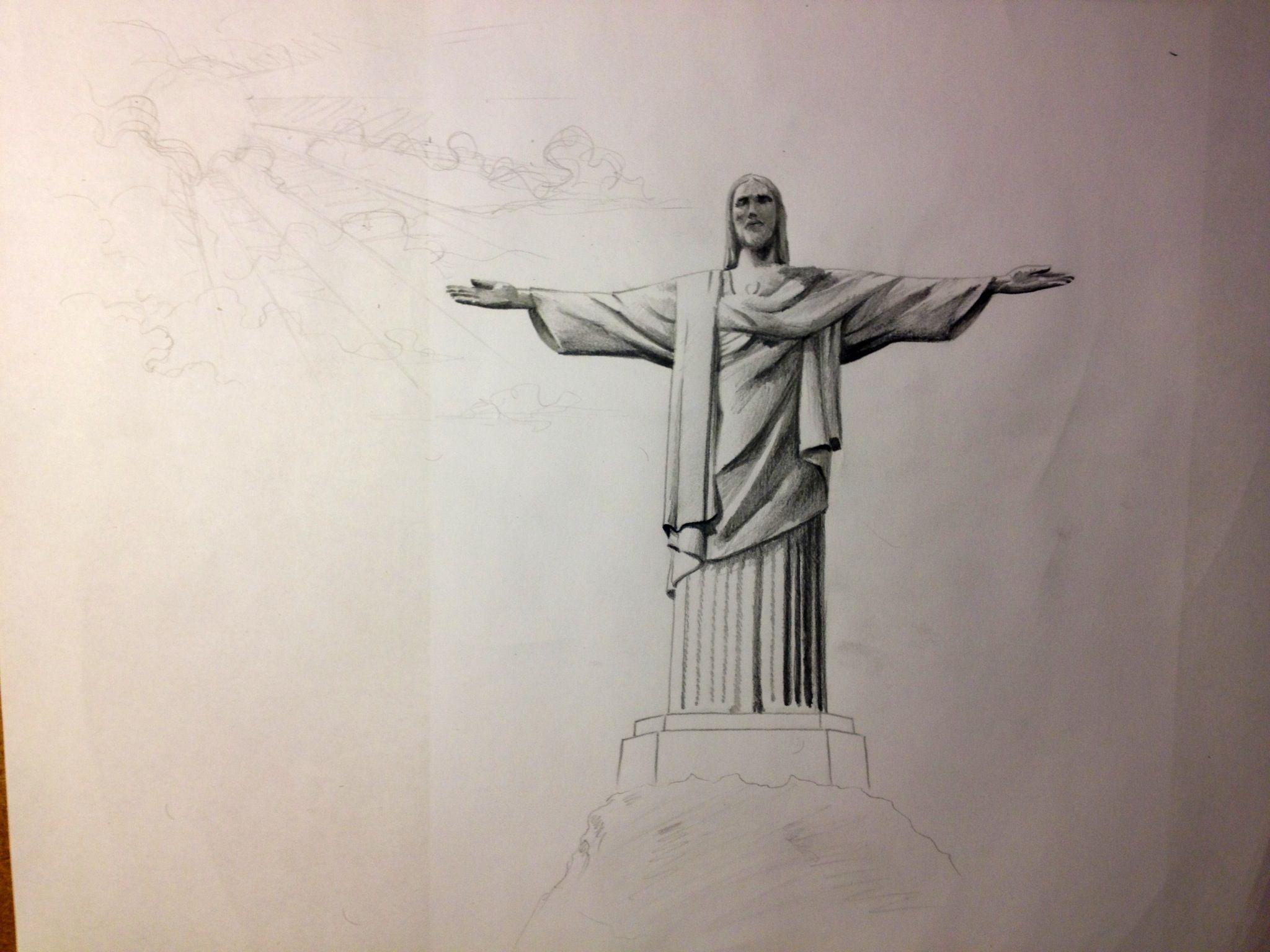 Cristo Redentor In Progress Cristo Redentor Cristo Redentor