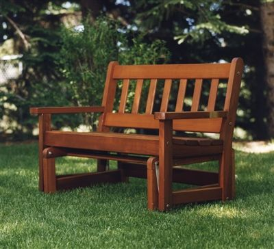 Shaker Style Back Slats ~ Gently Sloped Seat ~ Smooth Ball Bearing Glides ·  Outdoor GliderOutdoor Wicker FurnitureDeck ...