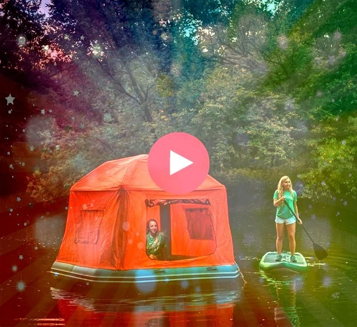 Shoal Tent Is a Floating Tent That Lets You Sleep on a Lake The Shoal Tent Is a Floating Tent That Lets You Sleep on a Lake  Shelter for camping and the bedding you will...