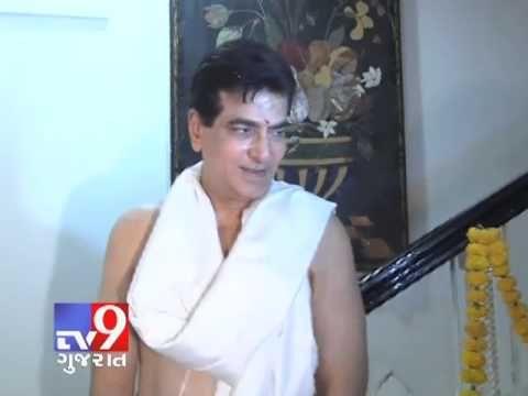 Film star Jeetendra Kapoor Celebrates Ganpati with his Family