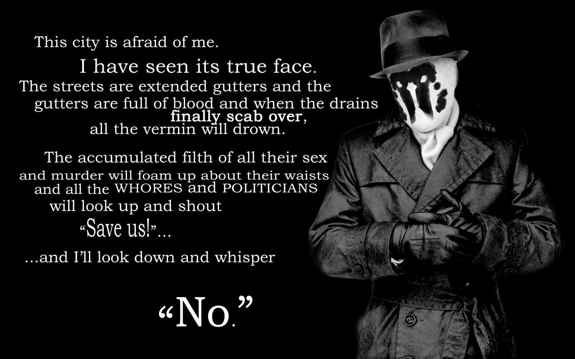 Watchmen quotes save us rorschach Quotes about
