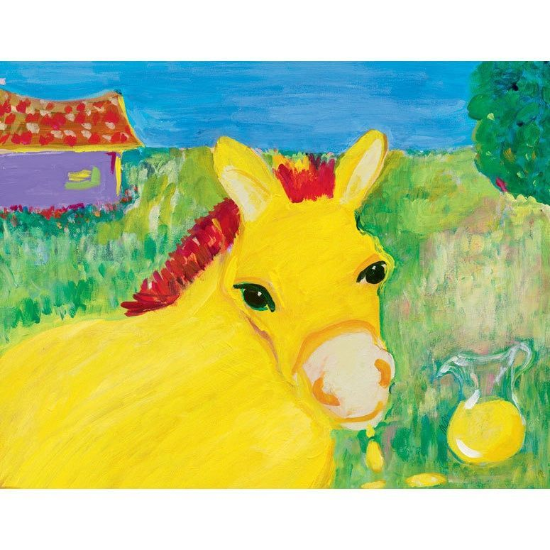 Oopsy daisy \'Lemon Neigh\' 18 x 14-inch Stretched Canvas Wall Art ...