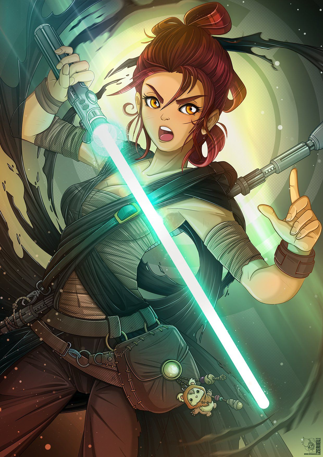 If 10 Of Your Favorite Franchises Were Turned Into Anime Star Wars Personajes Version Anime Star Wars Jedi