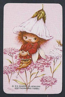 800-1169-Blank-Back-Swap-Cards-MINT-Victoria-Plum-Fairy-flowers-pink