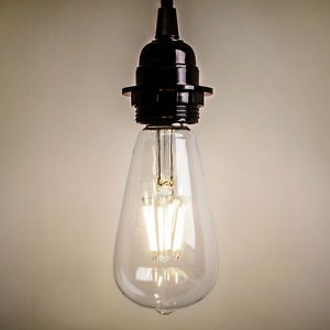 Details About New Vintage Retro Edison E27 2w 8w Screw Led Filament Light Bulb St64 Globe Lamp With Images Light Bulb Filament Bulb Lighting Retro Lighting
