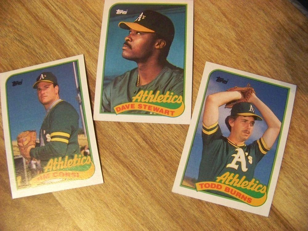 1989 topps baseball trading card oakland athletics 3