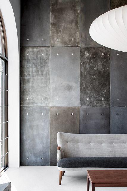 Concrete Wall Panel Atelier B Fireplace Interior Home Decor Interior Design