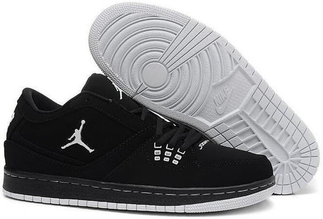 Black · 2015 New Air Jordan 1 Flight Low Black Mens Shoes Nike AJ Sneakers