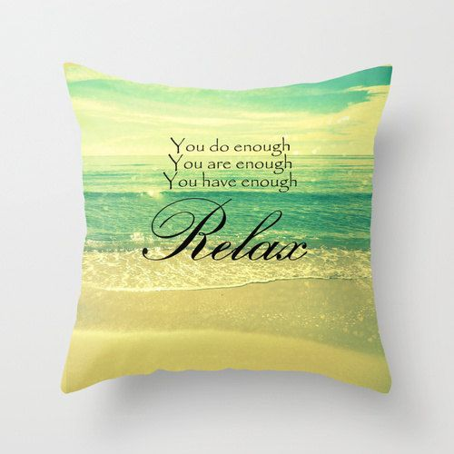 Relax Pillow  Beach Photography  Decorative Throw by ModernBeach, $38.00