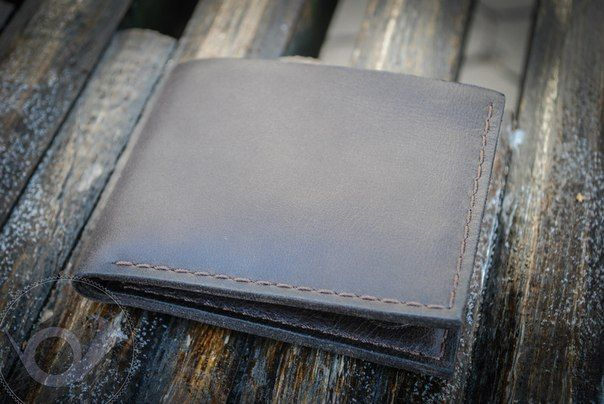 """Minimalist"" leather wallet with 4 credit card slots and open space for cash. Real wallet for real man! It's here - http://www.doodkaleathergoods.com/#!product/prd12/3426858735/mens-handmade-leather-wallet-minimalist  #walletformen, #leatherwalletformen, #bifoldwallet, #doodkaleathergoods"