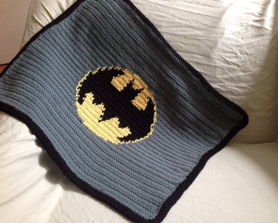Handmade Crochet Batman baby Boy stroller Blanket PATTERN in PDF ...