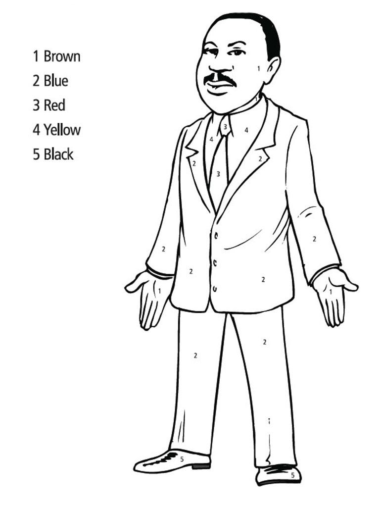 Coloring pictures martin luther king jr - Martin Luther King Jr Coloring Pages Martin Luther King Jr Coloring Pages Realistic Coloring