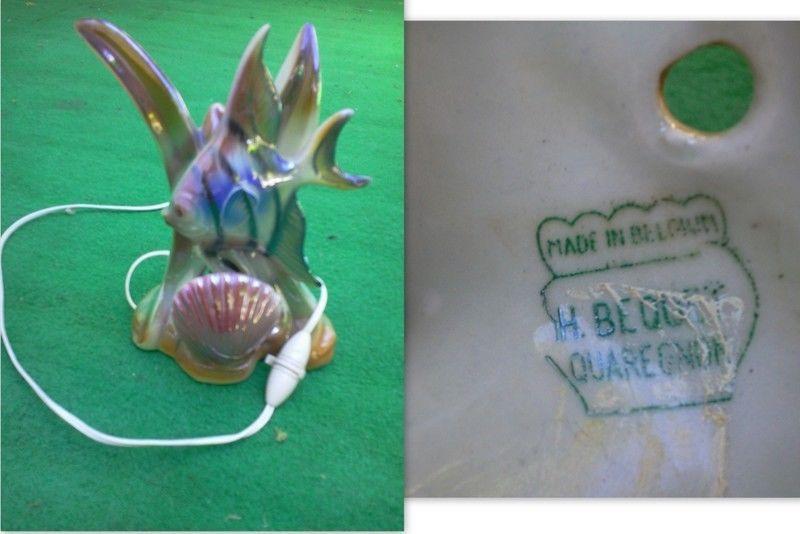 Lampe Veilleuse Poisson En Ceramique H Bequet Quaregnon Vintage Kitch How To Make Made