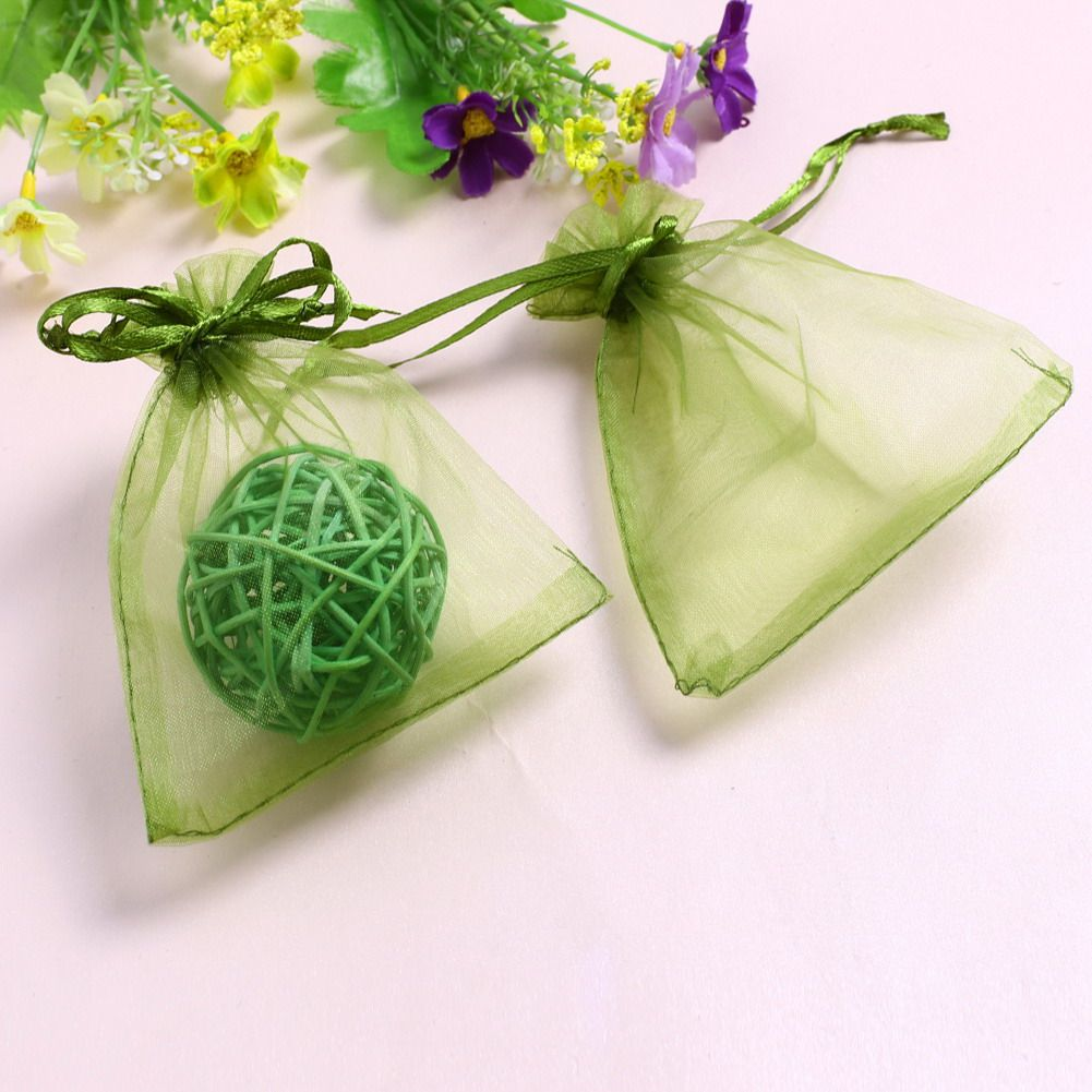100pcs Organza Gift Bags Jewelry Pouches Wedding Party Favor 7x9cm