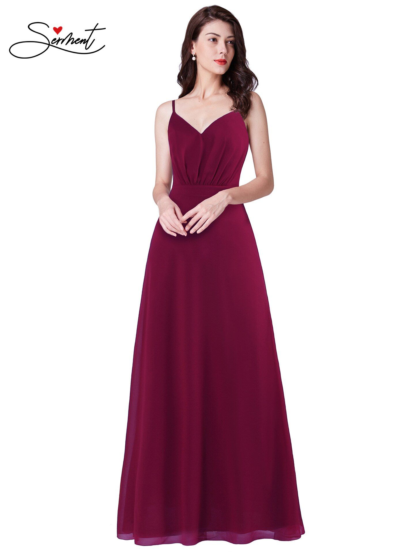 New Elegant Woman Evening Gown Summer Suspender Wine Red Elegant Noble Evening Dress Suitable For Formal Parties Evening Gowns Evening Dresses Elegant Woman [ 1920 x 1440 Pixel ]