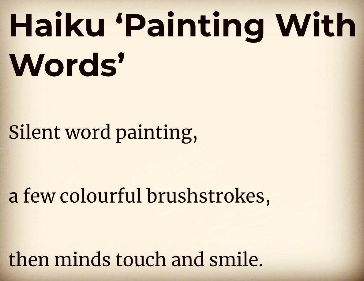 Haiku Painting Words Silence Brushstrokes Touching
