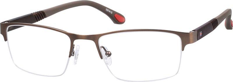 Brown rectangle glasses 197415 zenni optical eyeglasses