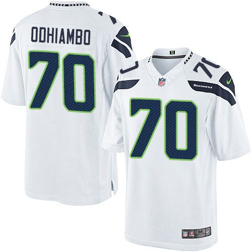 online store ee726 10f49 Youth Nike Seattle Seahawks #70 Rees Odhiambo Limited White ...
