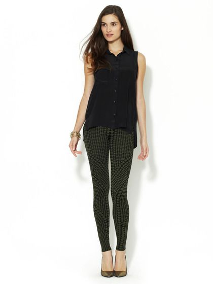 Andrea Jacquard Star Legging by Torn by Ronny Kobo at Gilt